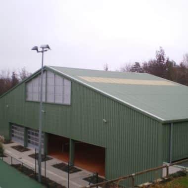 Construction d'un tennis couvert