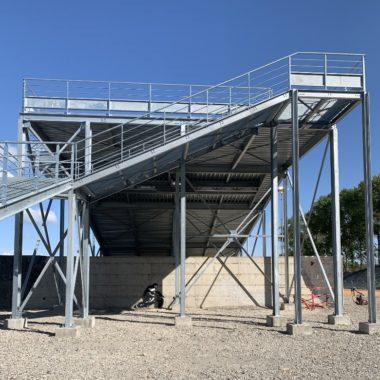 Construction d'une piste de départ BMX