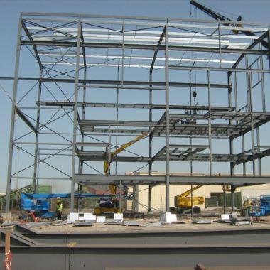 Avancement travaux bâtiment process recyclage